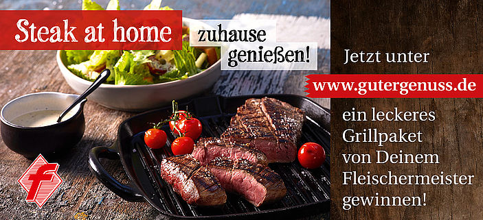 "Digitale Grill-Werbung ""Steak at home"""